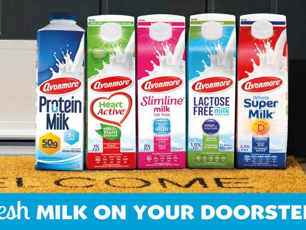Selection of Avonmore milk cartons