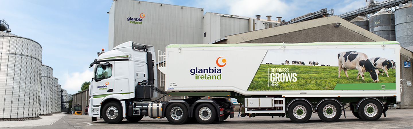 Glanbia Ireland Truck in front of GI Office Building